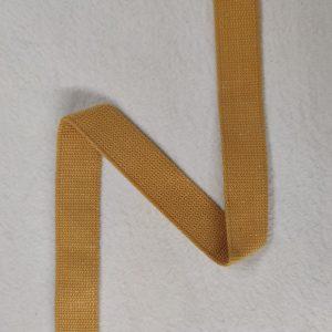 Sangle coton 30 mm jaune moutarde pailletée argent