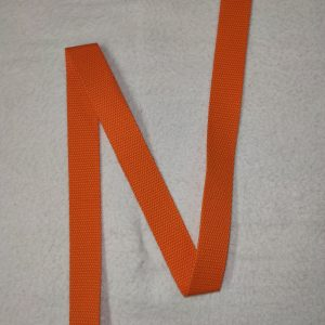 Sangle coton 30 mm orangée