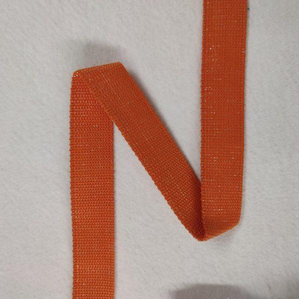 sangle orange pailletée argent