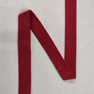 Sangle coton 30 mm rouge pailletée or