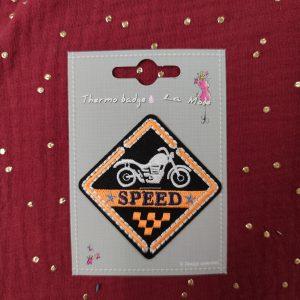 Badge écusson thermocollant sport «speed»