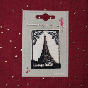 Badge écusson thermocollant Tour Eiffel
