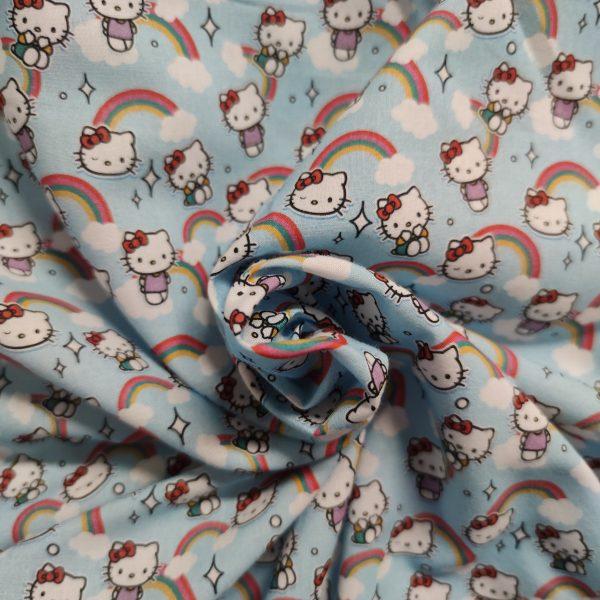 coton, hello kitty, bleu