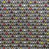 coton, triangles, noir, blanc, jaune, vert, masque