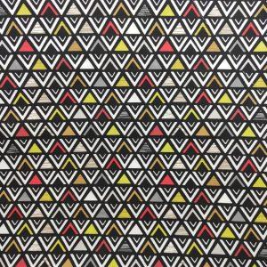 Coton imprimé triangles noir