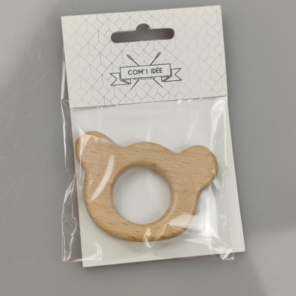 anneau de dentition, ourson, bois