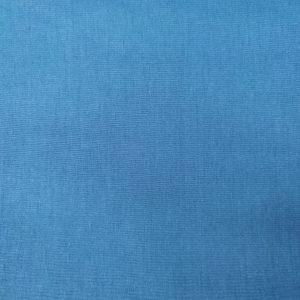 Popeline de coton bio unie bleue canard