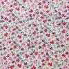 coton, mercerisé, petites fleurs,imitation liberty, doux, rose, violet, lila, rouge, blanc