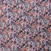 coton petites fleurs violet parme orange