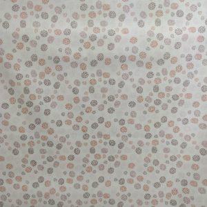 Coton bio mini pois rouge/rose pâle
