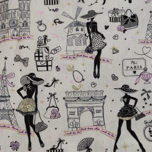 Coton blanc «Moi, Paris»