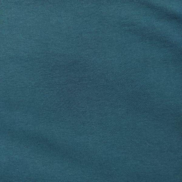 jersey, french terry, uni, bio, bleu canard
