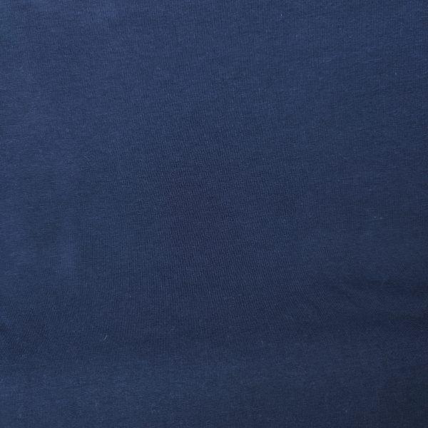jersey french terry uni bio bleu marine