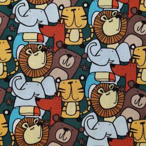 Coton pêle-mêle animaux de la savane