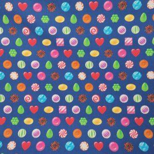 Coton motif jeu de bonbons