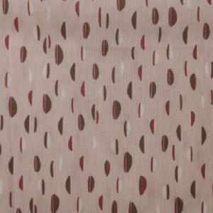 Popeline de coton rose pâle bio motifs demi-cercles