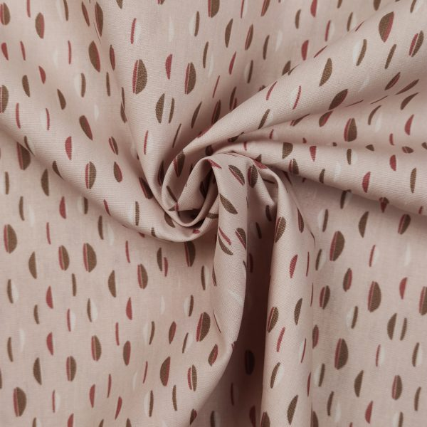 coton, demi cercle, forme, blanc, rose pâle, marron