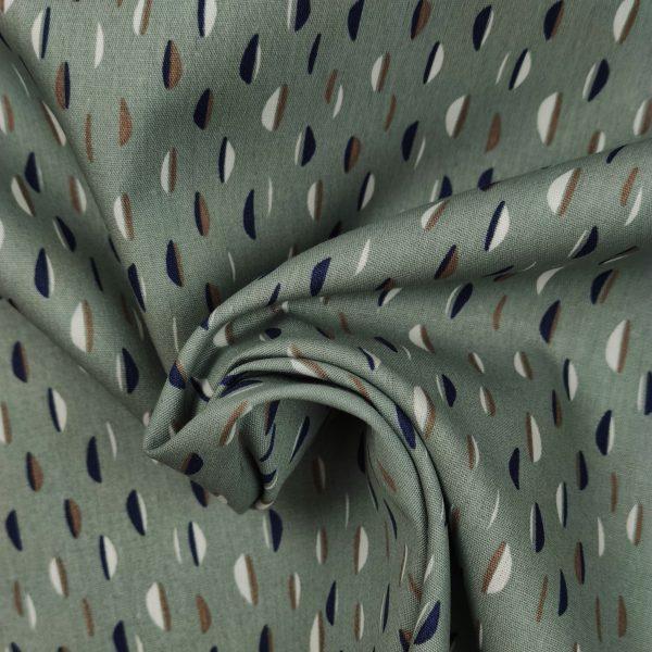coton, demi cercle, forme, blanc, vert cendré, bleu marine