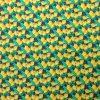 coton, citrons, jaune, vert, fruits, bleu marine