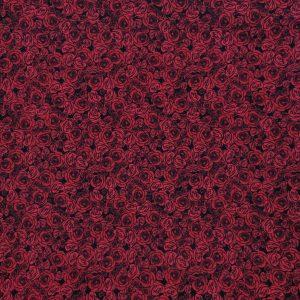 Coton imprimé roses rouges