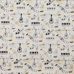 Coton écru instruments de musique
