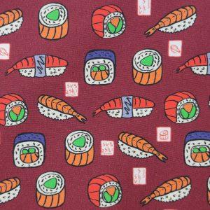Coton imprimé sushis