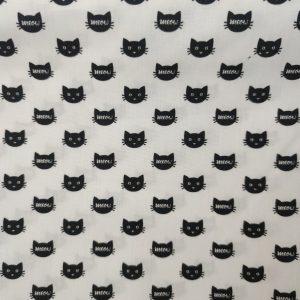 Coton imprimé têtes de chats