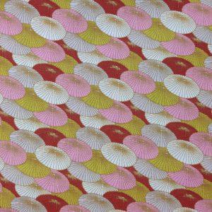 Coton ombrelles rosées
