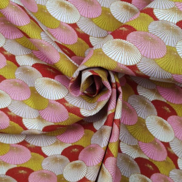 coton ombrelles roses