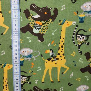 Coton imprimé girafe savane