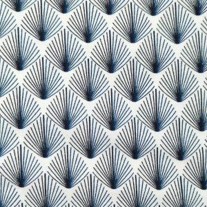 Jersey bio motif éventails bleus