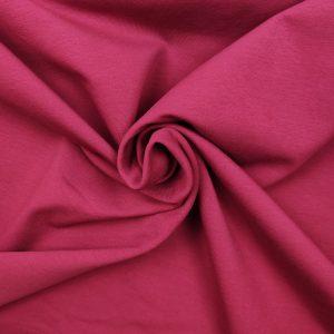 Jersey French Terry bio uni rose magenta