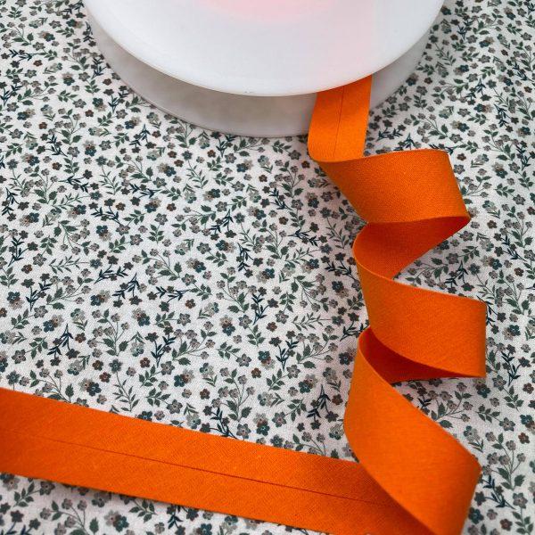 biais, orange citrouille, 20 mm