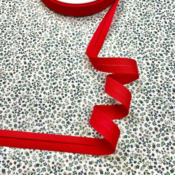 biais, 20 mm, rouge vif