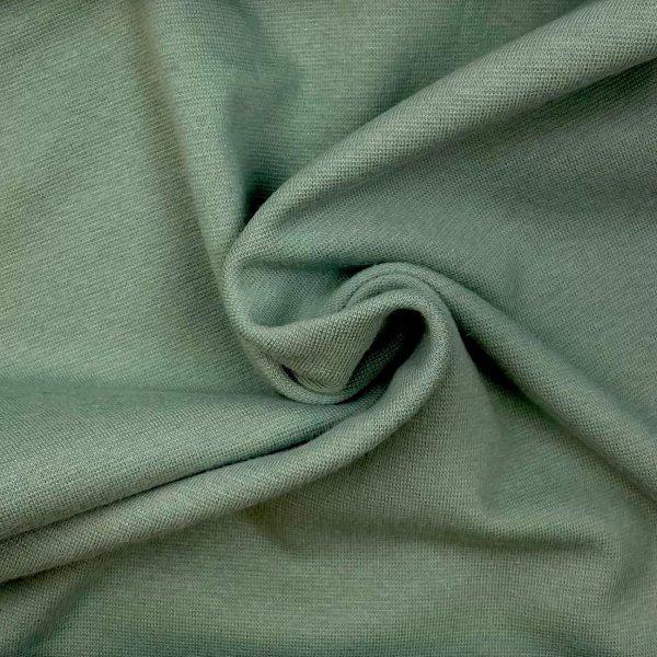 bord cote, bio, uni, vert cendré, jersey