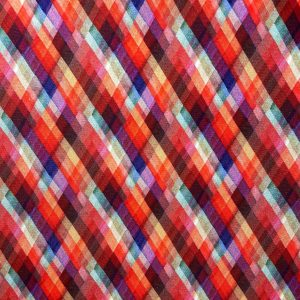 Coton géométries losanges multicolores