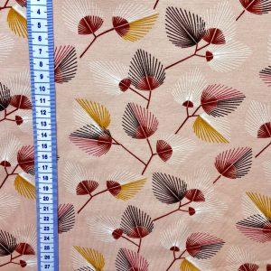 Jersey bio rose pâle imprimé feuillage