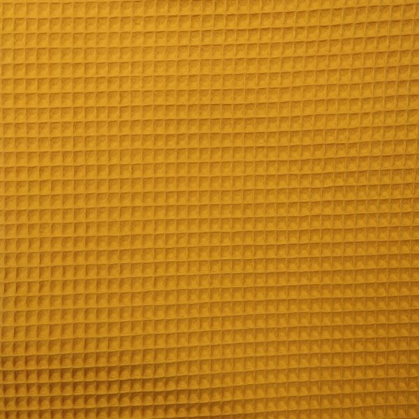 coton, nid d'abeille, jaune, gaufré