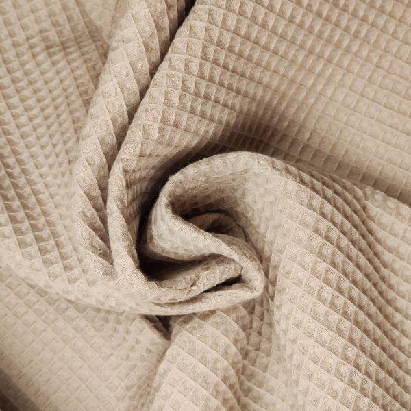 coton, nid d'abeille, beige, gaufré