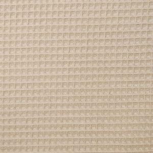 Coton uni nid d'abeille beige