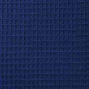 Coton uni nid d'abeille bleu marine