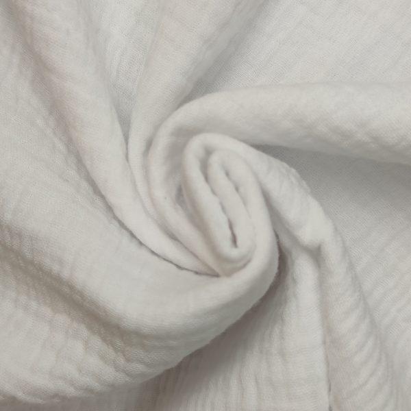 coton, double gaze, blanche