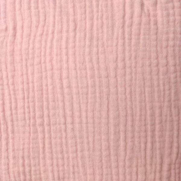 coton, double gaze, rose bonbon