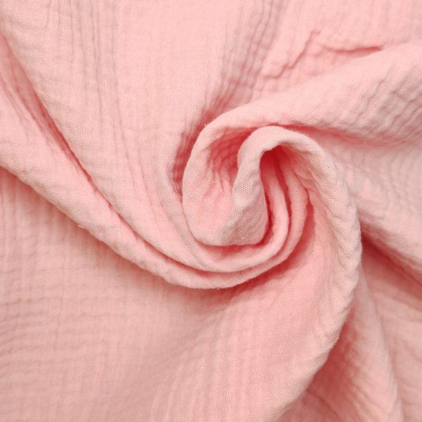 coton, double gaze, rose bonbons