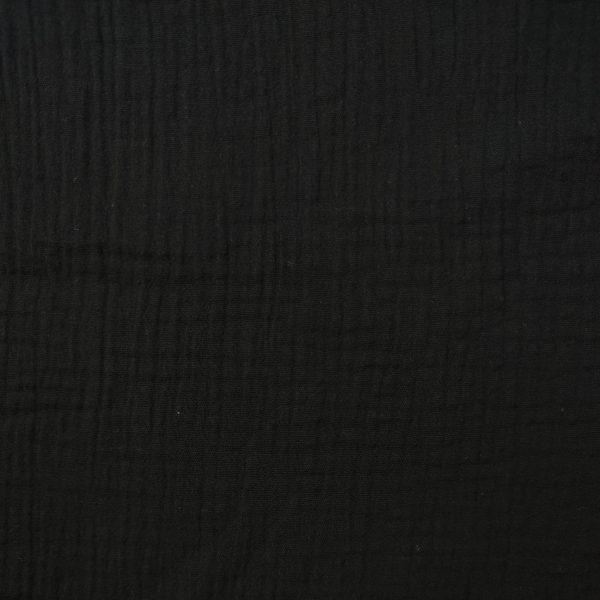 coton, double gaze, noir