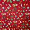coton, noël, luge, lune, boules de décorations, buche, blanc, beige, biscuit, marron, jaune, coeur, rouge
