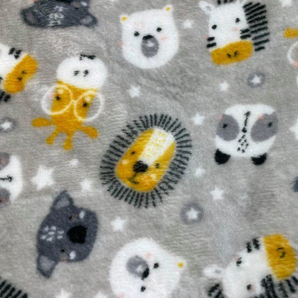 doudou, double face, reversible, polyester, doux, lion, girafe, zèbre, ours, koala, gris, jaune, blanc, étoile