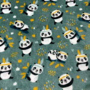 Doudou double face imprimé panda